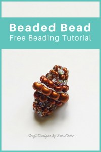 Tubular Herringbone Beaded Bead — FREE Beading Tutorial — Learn how to make a beaded bead using the tubular herringbone stitch.