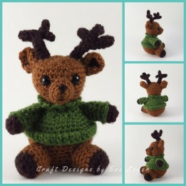 Cuddle Me Reindeer crochet pattern - Amigurumi Today | 261x261