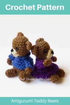 Get 70 Crochet Teddy Bear Patterns for free. See tons of photos ... | 350x233