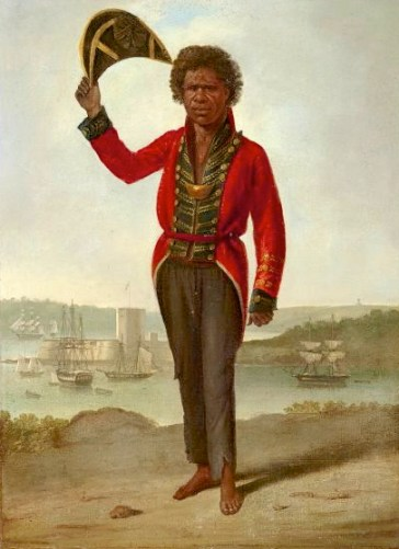 Bungoree (~1775-1830) on Gubba Gubba (Middle Head) - Augustus Earle