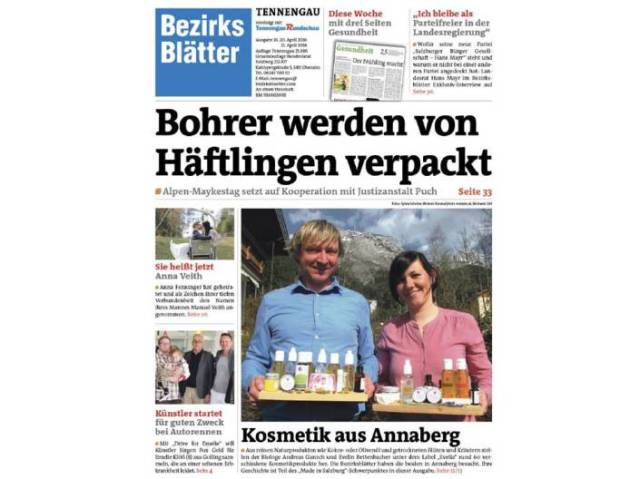 Bezriksblatt Tennengau Evelia