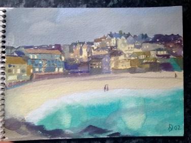 The twilight hour. Porthmeor, St Ives.