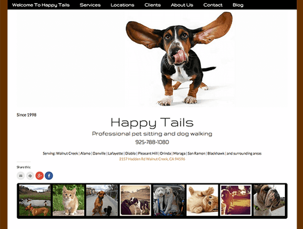 yourhappytail.com website screenshot