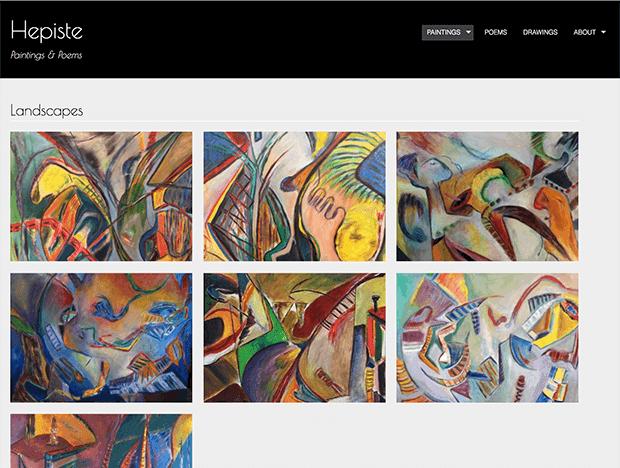 Eve Lurie Portfolio item — hepiste.org screenshot