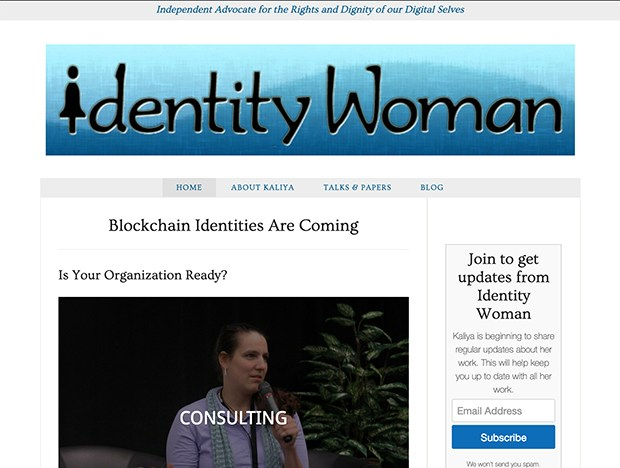 Eve Lurie Web Design example — identitywoman.net