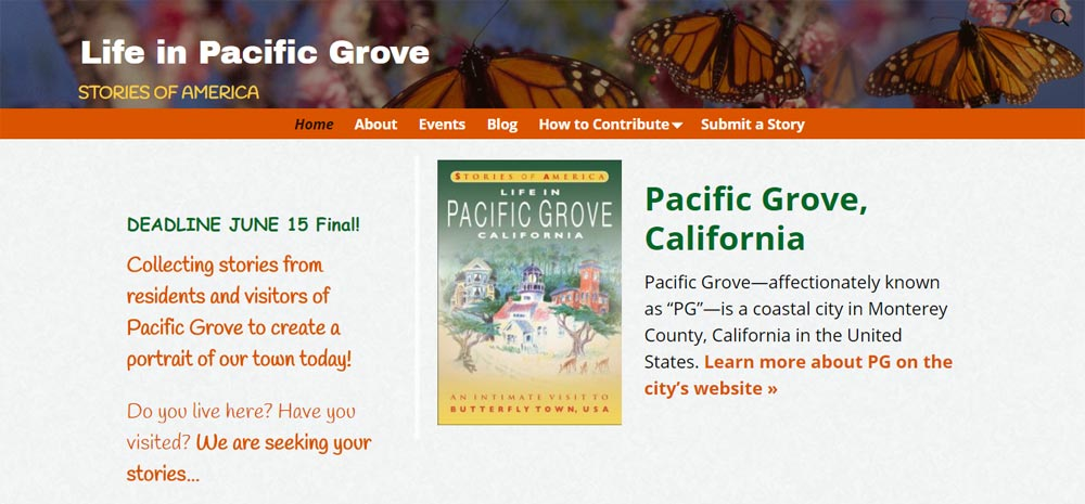 Life in Pacific Grove Website