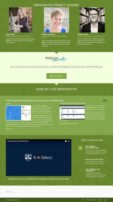 Home Page, Bottom Half