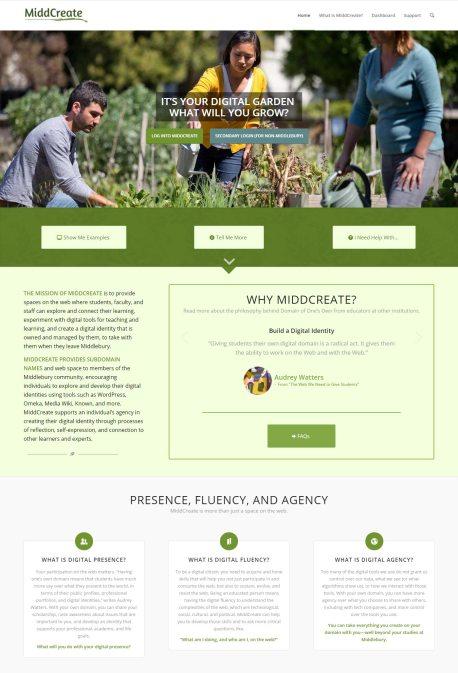 Home Page, Top Half
