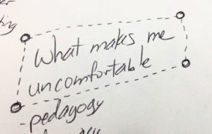 Evelyn's Digital Pedagogy Lab Notes, Uncomfortable