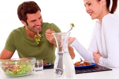 Couple Eating Veg