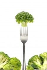 broccoli on a fork