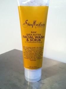 Shea Moisture Raw Shea Butter Facial Wash and Scrub Review