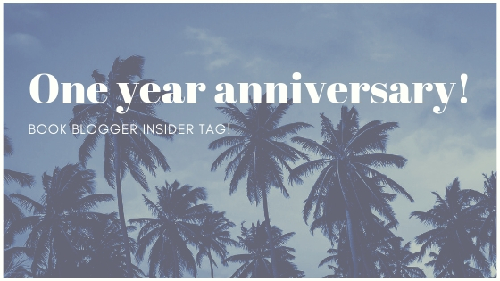 One year anniversary – book blogger insider tag