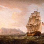 Painting of Man of War ship
