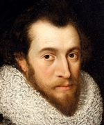 Oil painting of man with beard wearing ruff