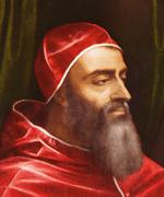 Bearded old man wearing red silk.