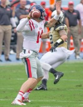 QB Bo Wallace completed 23-30 passes against Vandy. Photo Credit: Bentley Breland