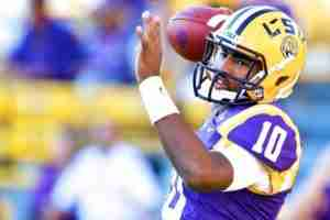 Quarterback Anthony Jennings has a 50% completion percentage on the season. (Photo courtesy of Bleacher Report)