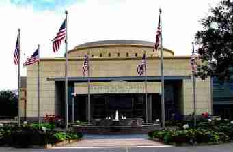 The George Bush Presidential Library and Museum is located just a few blocks from the A&M campus. (Photo credit: Evelyn Van Pelt)