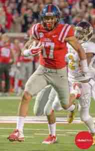 Evan Engram had a career day against Mississippi State. (Photo Credit: Bentley Breland)