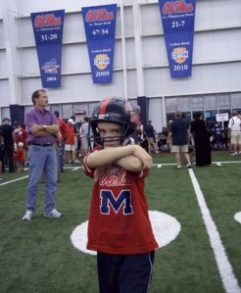 """Chance enjoying """"Meet The Rebels Day"""" in 2011. (Photo courtesy of The Tetrick Family.)"""
