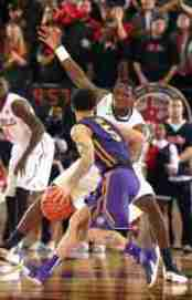 LSU G Josh Gray leads the team in assists with 4.2 apg. (Photo credit: Joshua McCoy, Ole Miss Athletics)