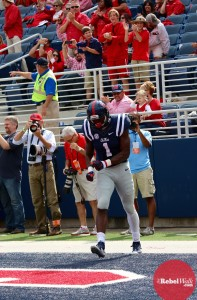 Treadwell is focused on relaxing and making more plays for the Rebels. (Photo credit: Amanda Swain, The Rebel Walk)