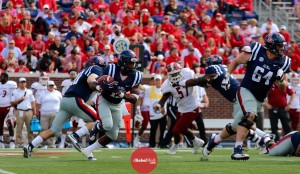 Eugene Brazley rushed for 98 yards on 6 carries against New Mexico State. (Photo credit: Amanda Swain, The Rebel Walk)