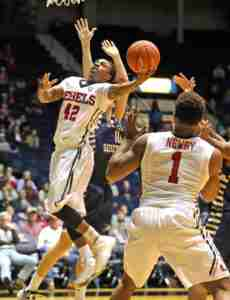 Stefan Moody finished with 22 points, going 15 for 17 from the free throw line. (Photo credit: Joshua McCoy, Ole Miss Athletics)