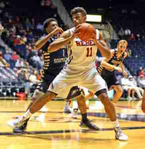 Saiz finished with 24 points and 16 rebounds in the Rebels' win over Georgia Southern. (Photo credit: Joshua McCoy, Ole Miss Athletics)