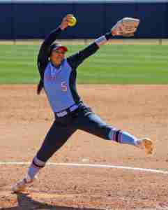 Madi Osias is 7-1 on the mound this season for the Rebels. (Photo credit: Joshua McCoy, Ole Miss Athletics)