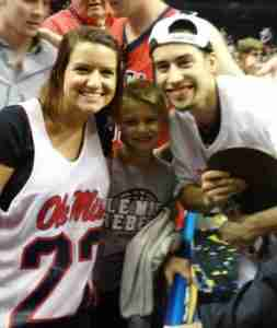 Marshall and I with our younger brother, Chase, after Ole Miss won the SEC Men's Basketball Tournament Championship.