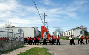 The last high school marching band in the Lower Ninth Ward New Orleans, Louisiana © Eve Bernhard. March, 2010