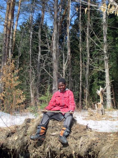 EarthWalk. Plainfield, Vermont. © Eve Bernhard. March 2015.