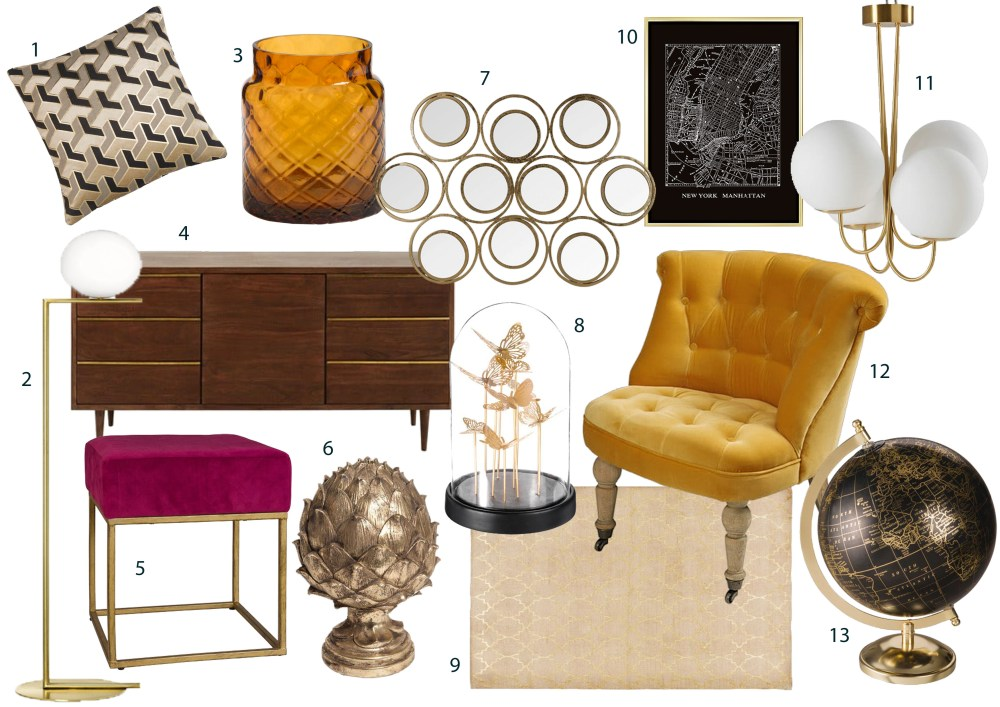 This trend relies on splendour, glamour and fancy things. The 5th Avenue look has it all and more! Enter a slick yet fabulous New York apartment, with its polished sheen, art deco motifs and luxury fabrics, this look is all about reimagining the classics. This look works particularly well in living rooms and bedrooms, due to the luxurious, soft textures and brass accents.