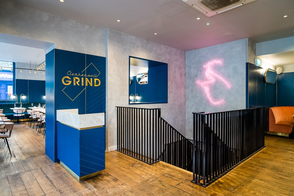 If you live in or visit London regularly, I'm sure you will be familiar with the collection of Grind cafes and restaurants. The Clerkenwell Grind is one of the 9. Each cafe/restaurant has their own distinct style, however, they all link together through the use of velvet seating and neon lights. In my opinion, Clerkenwell grind has the most eye catching style which is why it is so popular on sites like Instagram and Pinterest. Check out the photos below to see their bold, quirky style for yourself: