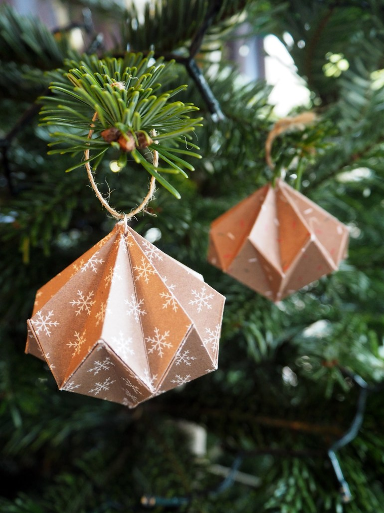 DIY paper tree ornament