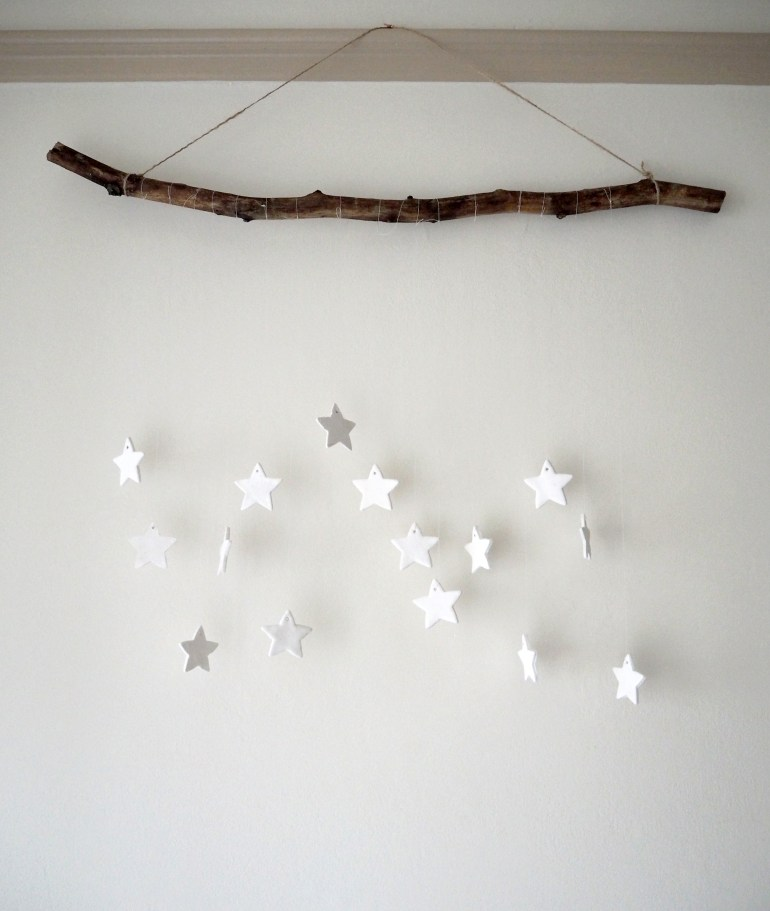 DIY hanging star decoration