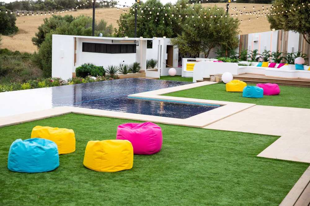 Colourful bean bags