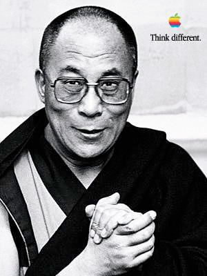 Dalai Lama, Apple Think Different Poster