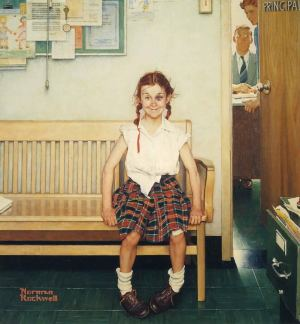 Girl with a Black Eye - Norman Rockwell - 1953