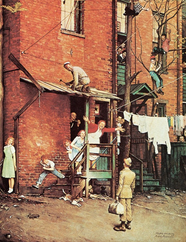 The Homecoming G.I. - Norman Rockwell - 1945