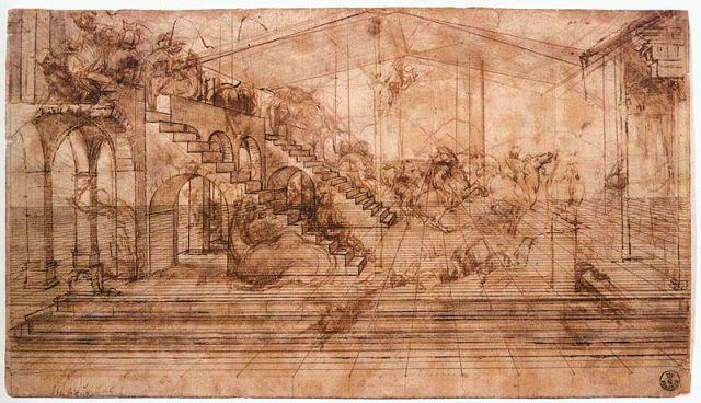 800px-Leonaredo,_studio_per_l'adorazione_dei_magi,_uffizi
