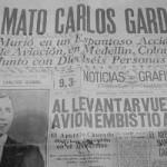 Carlos Gardel Journal annoncant son décès