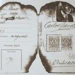 Carlos Gardel (reste de son passeport après l'accident de medellin)