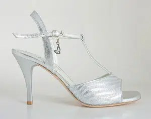 Chaussures de tango femmes marque Turquoise shoes - Modèle M12 Silver