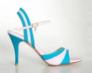Chaussures de tango femmes marque Turquoise shoes - Modèle M30 PinkBlue