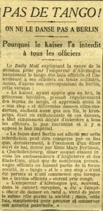 Journal Le Matin décembre 1913 - Cardinal Amette interdit tango