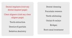 List-Dental-Services