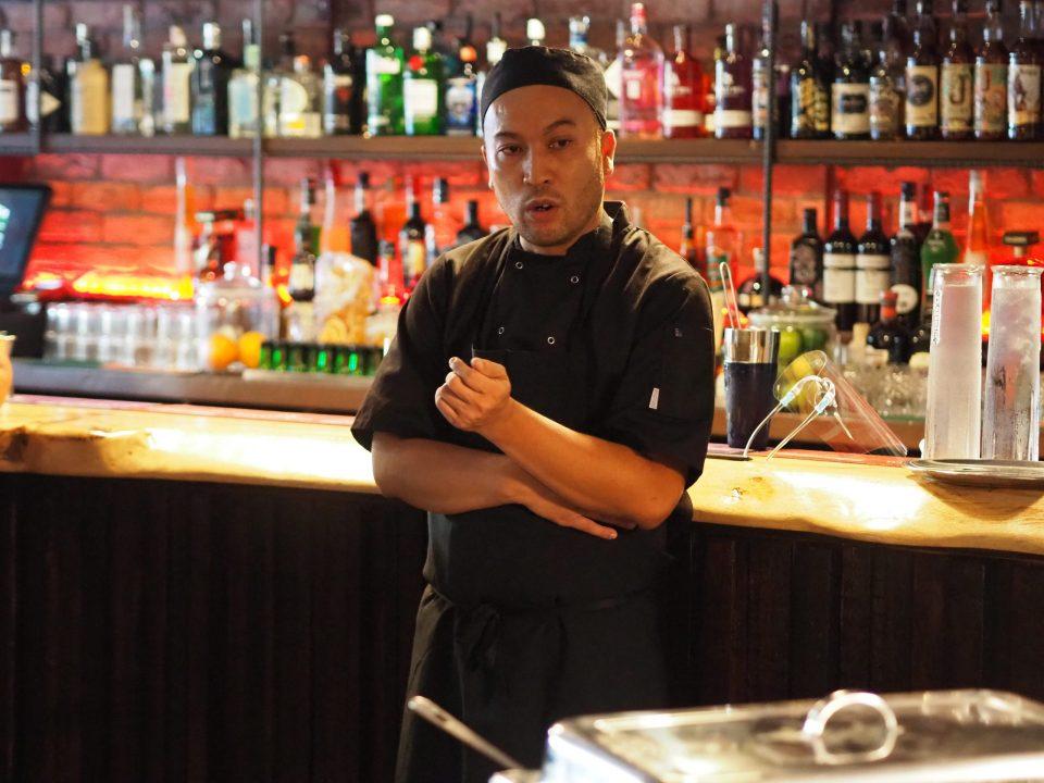 Thai restaurant owner addresses crowd